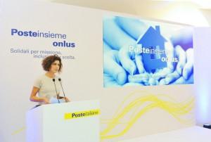 La presidente Paola Todini presentala nuova Fondazione Poste Insieme Onlus