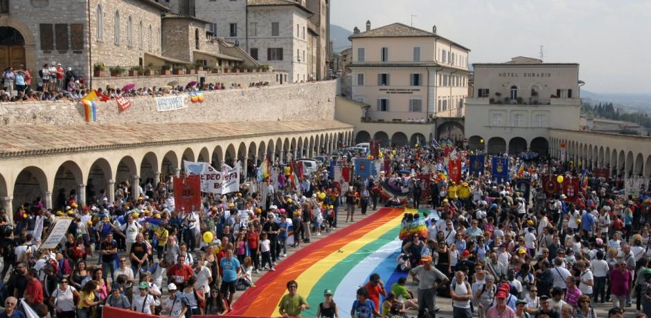 """Prima marcia della Pace """"Perugia-Assisi"""""""