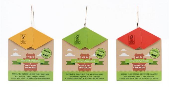 Tre sono le proposte di menù bimbi racchiusi in speciali box colorati