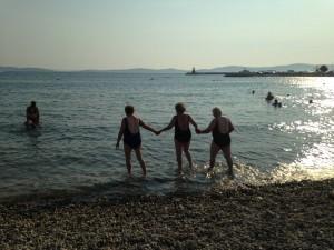"""Il primo bagno in Croazia delle """"Funne"""""""