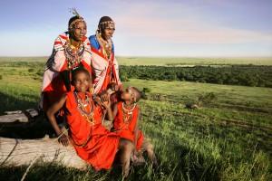 Un gruppo di giovani donne masai