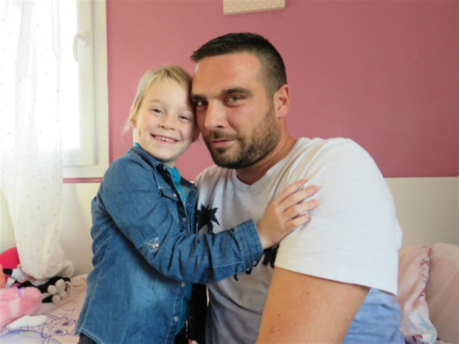 Jonathan e la figlia Naëlle