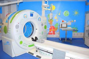 Nella sede di Palidoro dell'ospedale Bambino Gesù di Roma è 'atterrata' una 'Astro-Tac'.