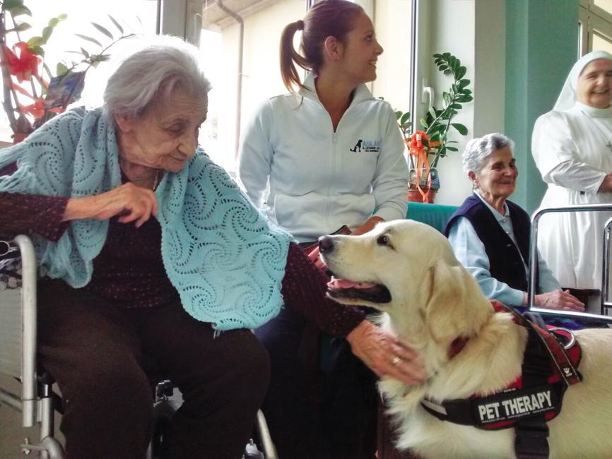 torino: pet therapy in cinque case di riposo
