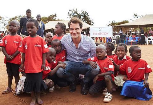 missione umanitaria di Federer