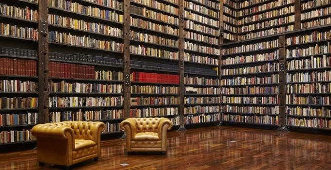Banca trasformata in biblioteca