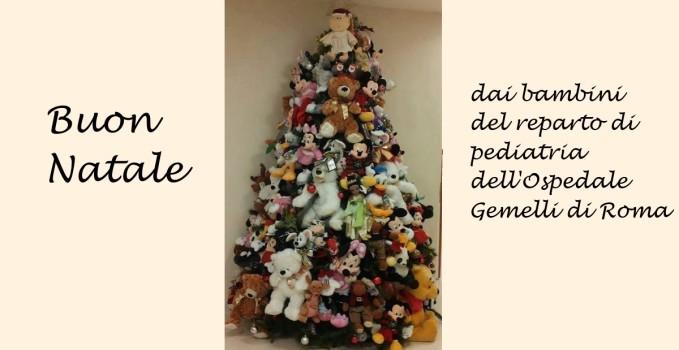 albero bambini al Gemelli di Roma