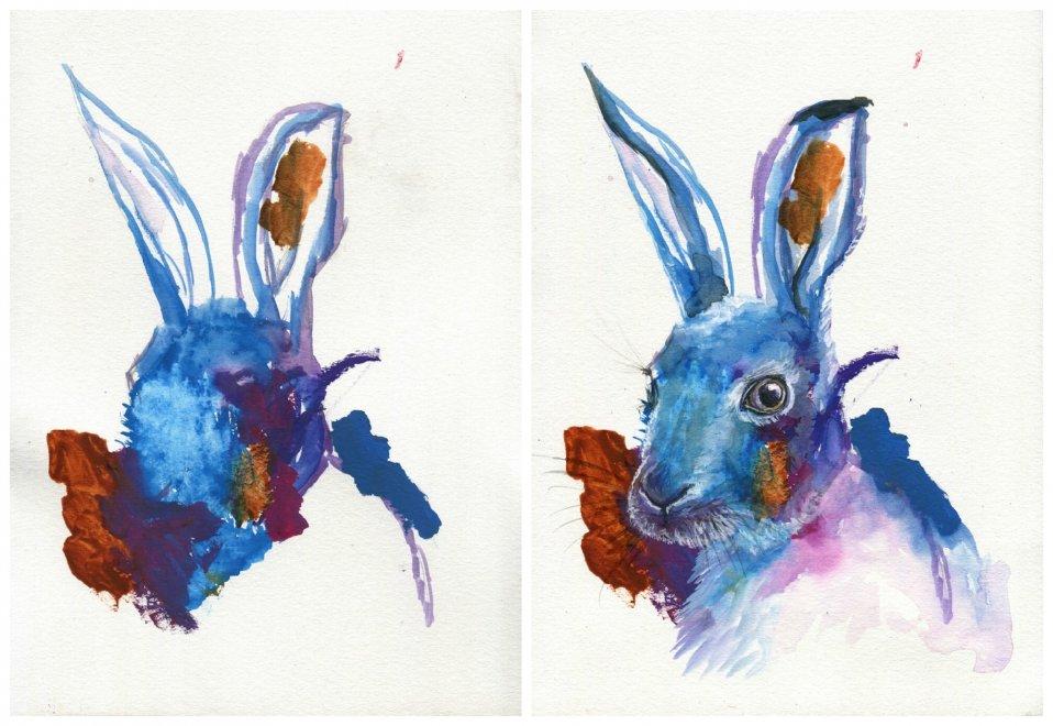 mamma pittrice trasforma gli scarabocchi della figlia in opere d'arte