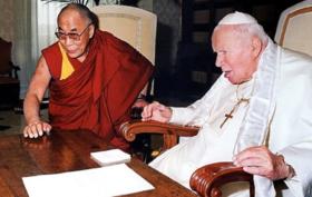 alai Lama e Giovanni Paolo II