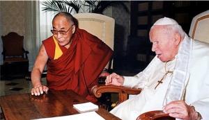 Dalai Lama e Giovanni Paolo II