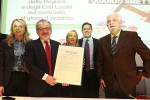 """""""manifesto"""" comune delle Regioni per fare rete contro l'azzardo"""