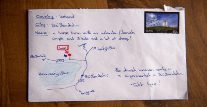 Al posto dell'indirizzo una mappa, ma la lettera arriva lo stesso