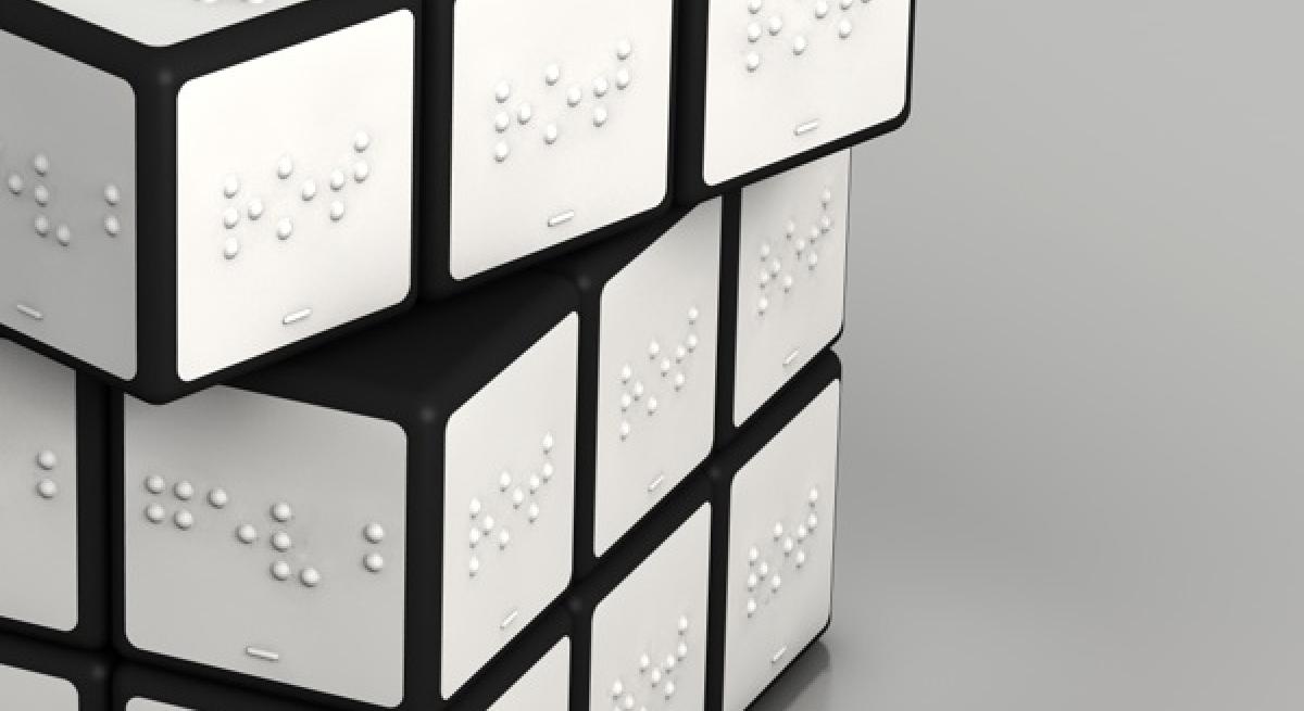 Cubo di Rubick in braille