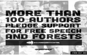100 autori per greenpeace